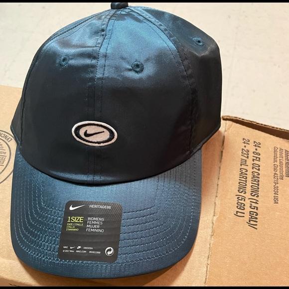 NWT Nike Women's Sportswear Heritage86 Adjustable Hat Blue CW5904-058